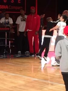 Washington Wizards point guard, John Wall, at NBA House.