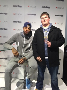 Indiana Pacers star, Paul George and I at Macy's Herald Square on Saturday, February 14.