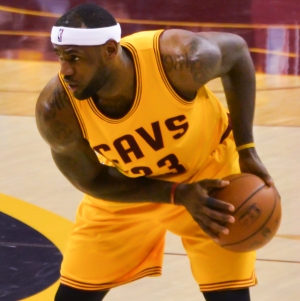 Cavaliers forward, LeBron James, in a game against the Oklahoma City Thunder on January 25, 2015. Creative Commons