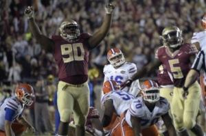 Florida State Defensive Tackle, Eddie Goldman. Photo Credit-newsherald.com