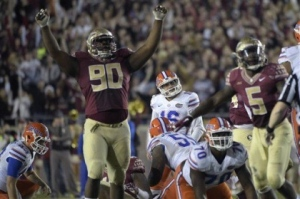Florida State Defensive Tackle, Eddie Goldman. Photo Credit-newsherald.com