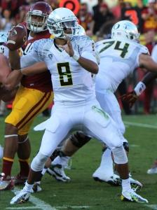 Oregon quarterback and 2014 Heisman Trophy winner, Marcus Mariota. Creative Commons