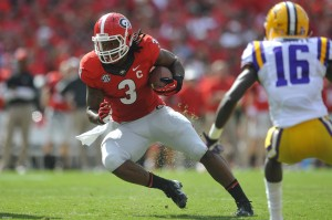 Georgia running back, Todd Gurley. Photo Credit-onlineathens.com