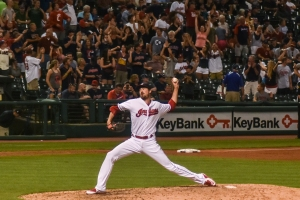 Indians pitcher, Andrew Miller. Photo Credit-Erik Drost