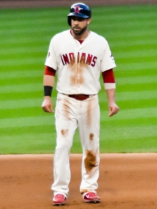 Indians second baseman, Jason Kipnis. Photo Credit-Erik Drost