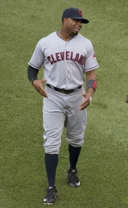 Indians outfielder, Rajai Davis. Photo Credit-Wikimedia Commons